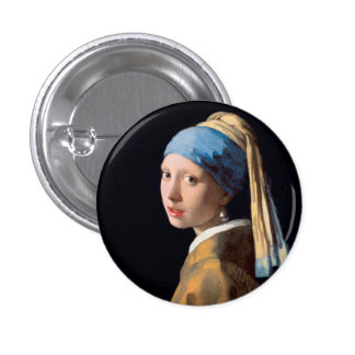 Johannes Vermeer, menina com um brinco da pérola Botons