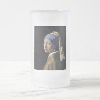 Johannes Vermeer - menina com um brinco da pérola Canecas
