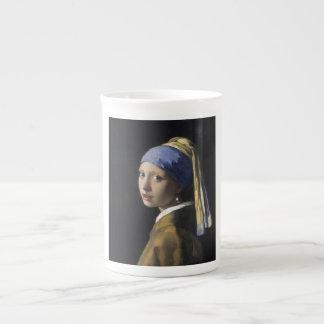 Johannes Vermeer - menina com um brinco da pérola Caneca De Porcelana
