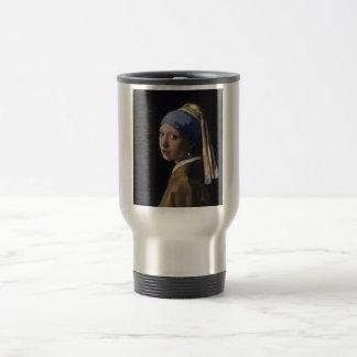 Johannes Vermeer - menina com um brinco da pérola Caneca Térmica