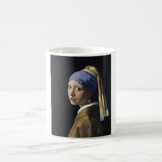 Johannes Vermeer - menina com um brinco da pérola Caneca Transmutação