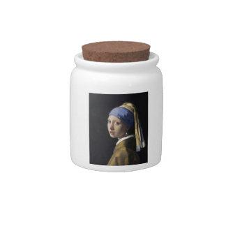 Johannes Vermeer - menina com um brinco da pérola Potes De Doces