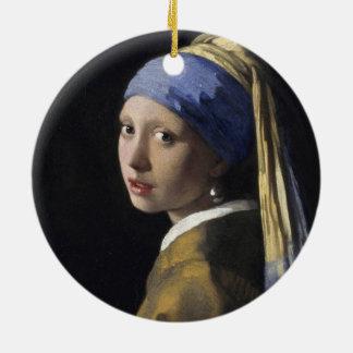 Johannes Vermeer - menina com um brinco da pérola Ornamentos