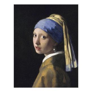 Johannes Vermeer - menina com um brinco da pérola Papéis De Carta Personalizados