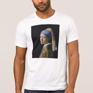 Johannes Vermeer - menina com um brinco da pérola Camiseta