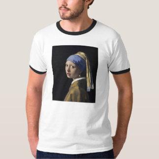Johannes Vermeer - menina com um brinco da pérola Tshirt