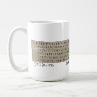John 1 no grego caneca de café