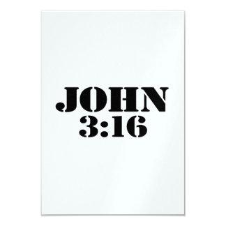 John 316 convite 8.89 x 12.7cm