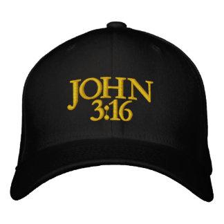 JOHN 3 16 BONÉS BORDADOS