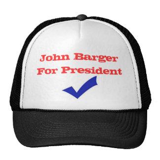 John Barger para o presidente Boné