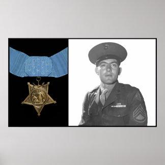 John Basilone e a medalha da honra Poster