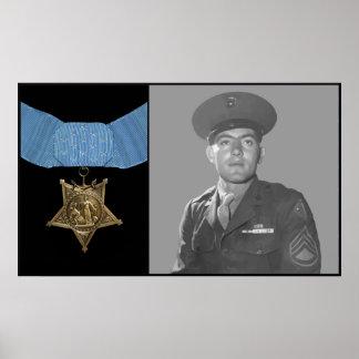 John Basilone e a medalha da honra Posteres