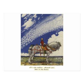 """John Bauer - """"no mundo largo """" Cartão Postal"""