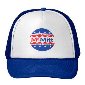 John McCain & chapéu de Mitt Romney McMitt Boné