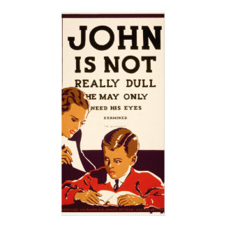 John não é realmente maçante cartão com foto