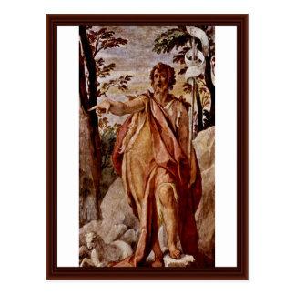 John The Baptist, por Zuccari Federico Cartão Postal