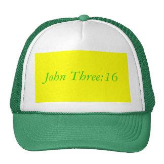 John três: boné 16