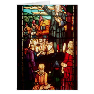 John Wesley que Preaching os evangelho em Inglater Cartao