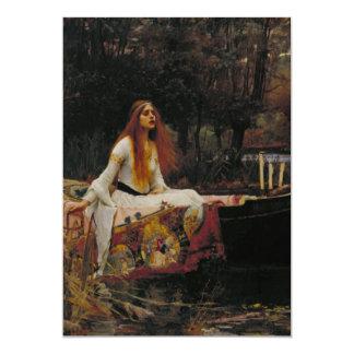 John William Waterhouse - senhora de Shalott Convite Personalizado