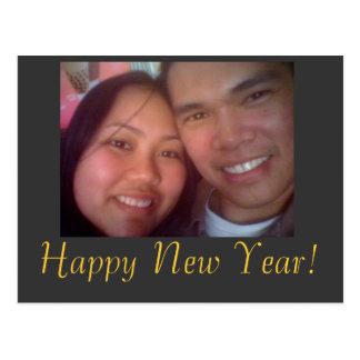 johnandi, o feliz ano novo! cartao postal