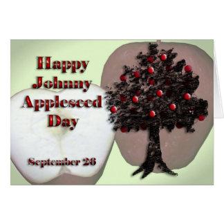 Johnny Appleseed dia cartão o 26 de setembro