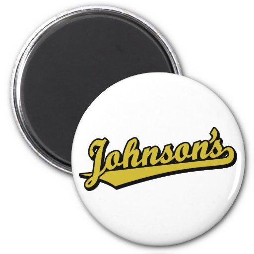 Johnson no ouro imã de geladeira