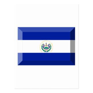 Jóia da bandeira de El Salvador Cartão Postal