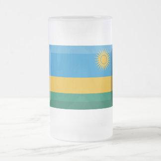 Jóia da bandeira de Rwanda Caneca De Cerveja Vidro Jateado