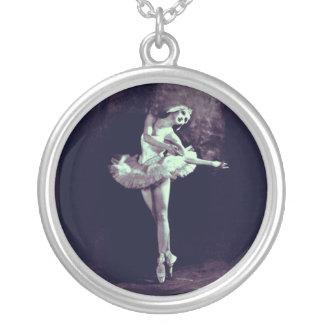Jóia da foto do pendente da imagem da arte do balé colar banhado a prata