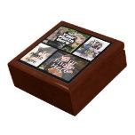 Jóia da lembrança da colagem de quatro fotos/caixa estojo para jóias
