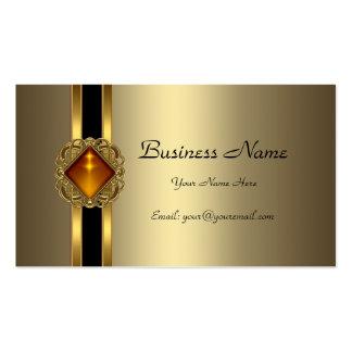 Jóia de bronze elegante do âmbar do preto do ouro cartão de visita