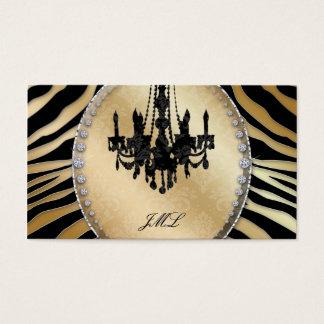 Jóia do candelabro da zebra do cartão de visita do