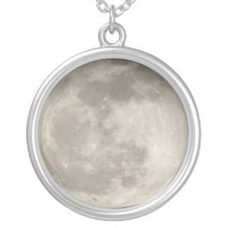 Jóia do espaço da colar do pendente da lua