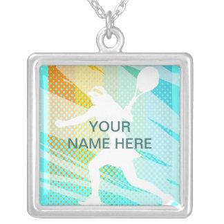 Jóia do tênis - colar personalizada - adicione o
