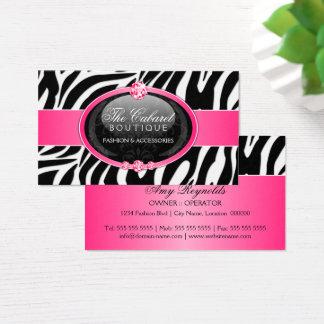 Jóia elegante da forma da zebra cartão de visitas