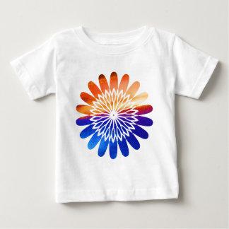 Jóia gráfica redonda da flor de Chakra Camiseta Para Bebê