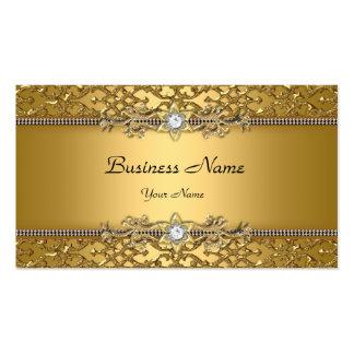 Jóia gravada do ouro damasco elegante elegante cartão de visita