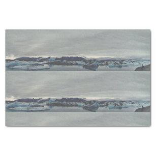 Jokulsarlon, Islândia - lenço de papel da lagoa da