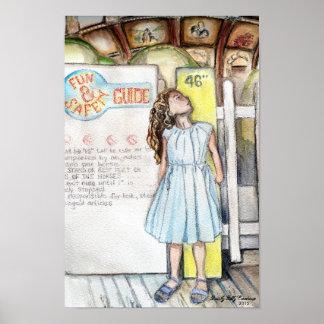 """""""Jolene arte da parede no carrossel"""" Poster"""