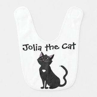 Jolia o gato, admira-me! babador infantil