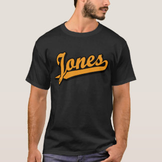 Jones na laranja camiseta