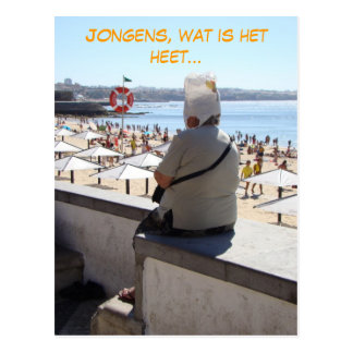 Jongens, heet do zo (Dutch Nederlands) engraçado Cartão Postal