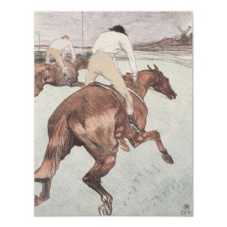 Jóquei por Henri de Toulouse-Lautrec Convite 10.79 X 13.97cm