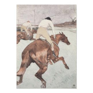 Jóquei por Henri de Toulouse-Lautrec Convite 12.7 X 17.78cm