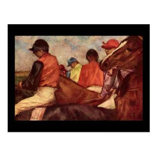 Jóqueis de Edgar Degas Cartão Postal