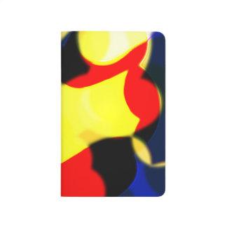 Jornal amarelo e azul vermelho abstrato do bolso