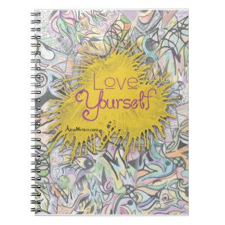 Jornal colorido do caderno