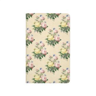 Jornal cor-de-rosa do teste padrão de flor do diário