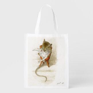 Jornal da leitura do rato sacolas ecológicas para supermercado
