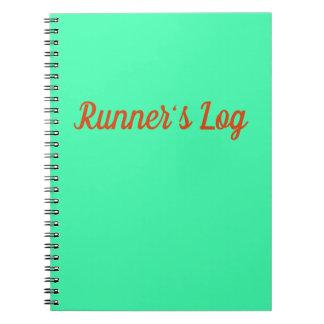 Jornal espiral azul do caderno Running do registro